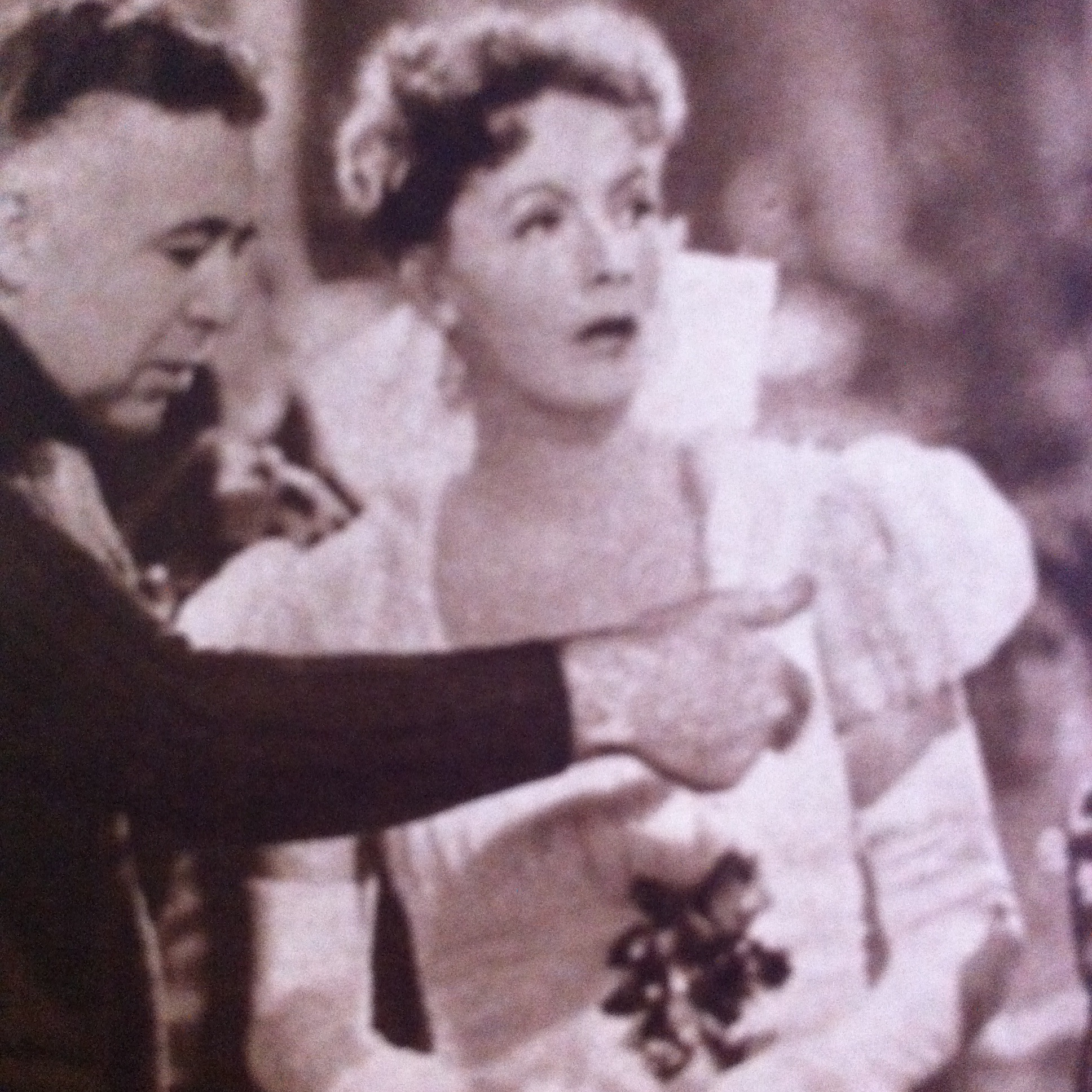 Greta Garbo and Clarence Brown in Conquest (1937)
