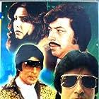 Amitabh Bachchan, Amjad Khan, and Neetu Singh in Yaarana (1981)