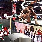 Sesugh Uhaa and Ettore Ewen in WrestleMania 37 (2021)