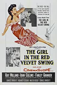 Joan Collins, Ray Milland, and Farley Granger in The Girl in the Red Velvet Swing (1955)