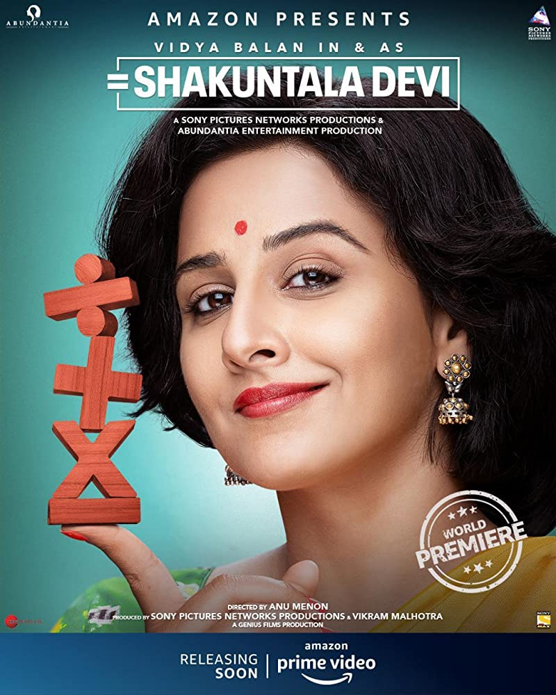 Shakuntala Devi 2020 Hindi Full Movie 400MB HDRip ESub Download