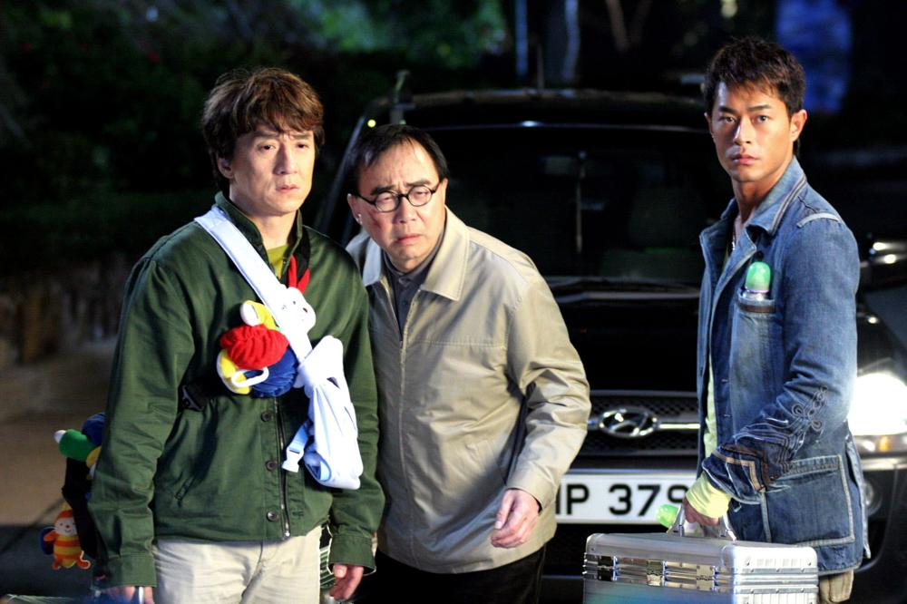 Jackie Chan, Michael Hui, and Louis Koo in Bo bui gai wak (2006)