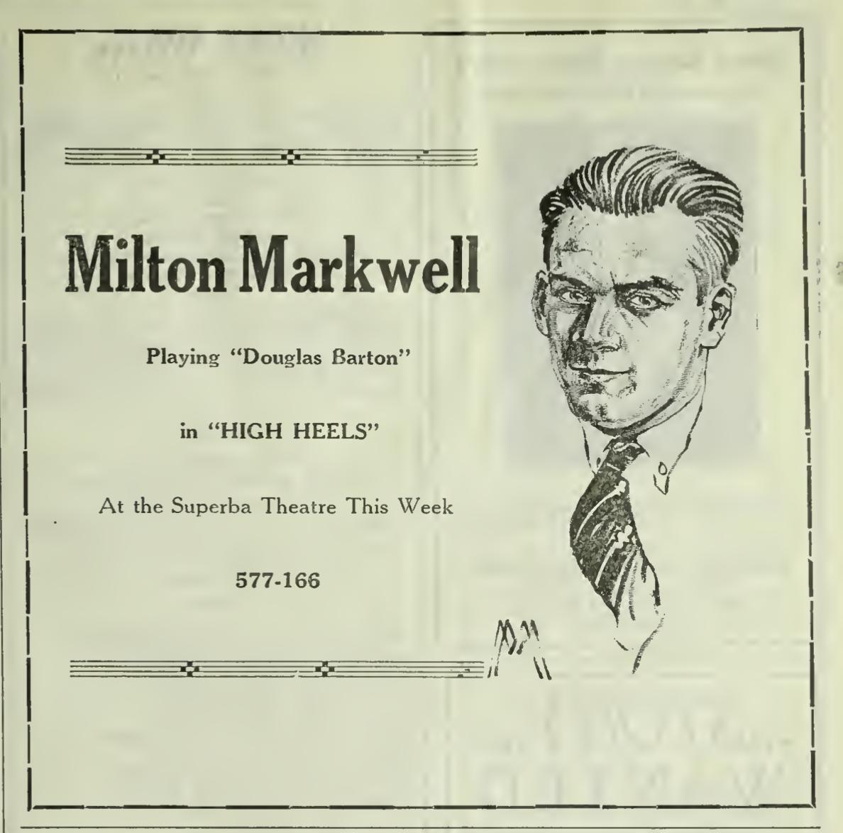 Milton Markwell in High Heels (1921)