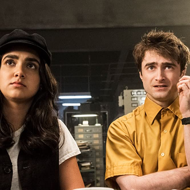 Daniel Radcliffe and Geraldine Viswanathan in Miracle Workers (2019)
