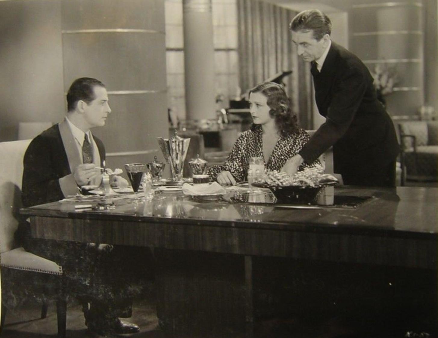 Reginald Denny, Geneva Mitchell, and Eric Wilton in Strange Justice (1932)