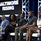 George Pelecanos, Sonja Sohn, Melvin Russell, Kwame Rose, and Makayla Gilliam-Price at an event for Baltimore Rising (2017)