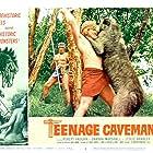 Robert Vaughn and Frank DeKova in Teenage Cave Man (1958)