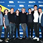 Tim Roth, François Girard, Robert Lantos, Gerran Howell, Misha Handley, Jonah Hauer-King, and Luke Doyle at an event for The Song of Names (2019)