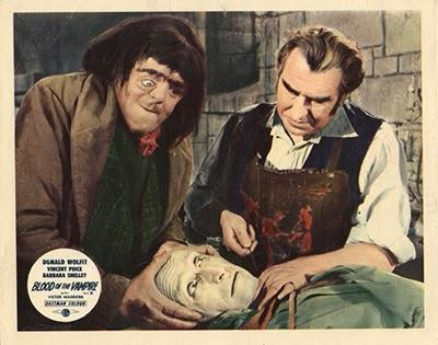 Victor Maddern and Donald Wolfit in Blood of the Vampire (1958)