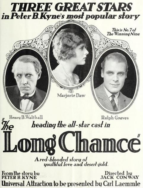 Marjorie Daw, Ralph Graves, and Henry B. Walthall in The Long Chance (1922)