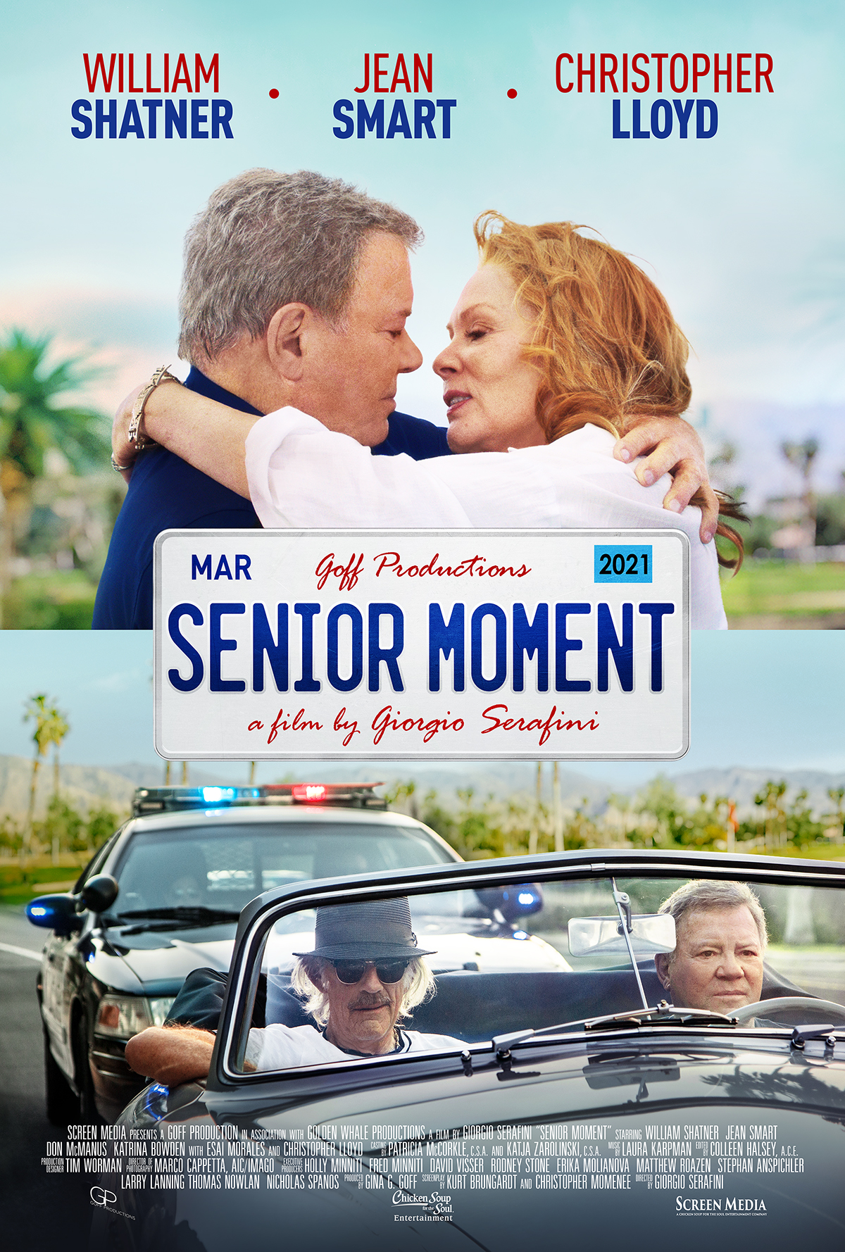 Christopher Lloyd, William Shatner, and Jean Smart in Senior Moment (2021)
