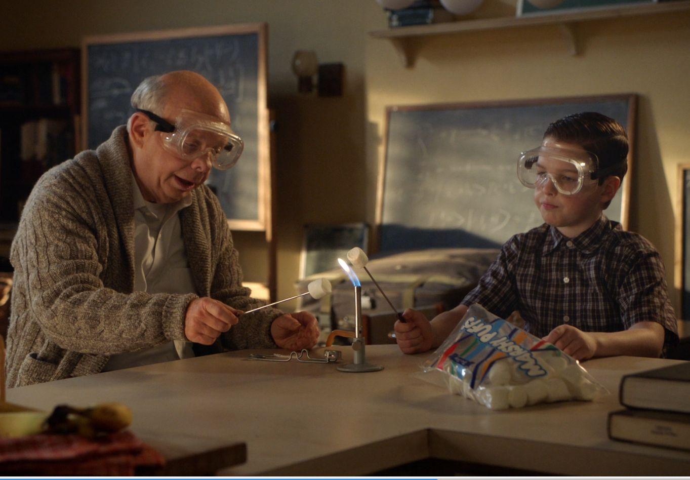 Joven Sheldon 2×18 – Una puntuación perfecta y un malvavisco con mechero Bunsen