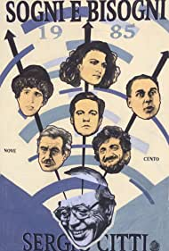 Ninetto Davoli, Renato Pozzetto, Gigi Proietti, Ugo Tognazzi, Marilù Tolo, and Carlo Verdone in Sogni e bisogni (1985)