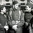 James Stewart, Sam Levene, and Nat Pendleton in The Shopworn Angel (1938)