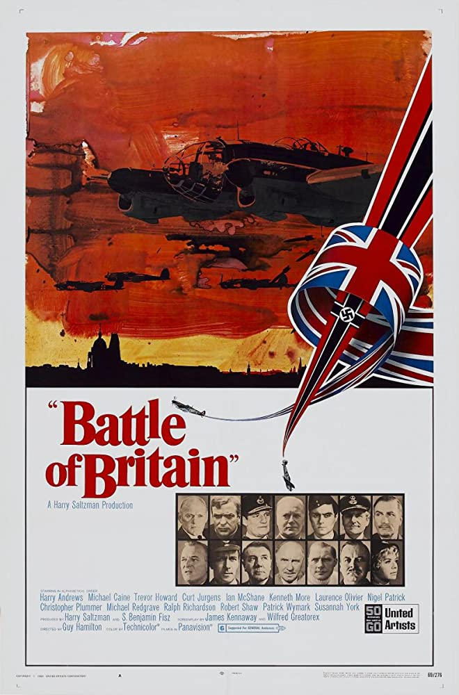 Laurence Olivier, Michael Caine, Christopher Plummer, Robert Shaw, Trevor Howard, Harry Andrews, Curd Jürgens, Ian McShane, Kenneth More, Nigel Patrick, Michael Redgrave, Ralph Richardson, Patrick Wymark, and Susannah York in Battle of Britain (1969)