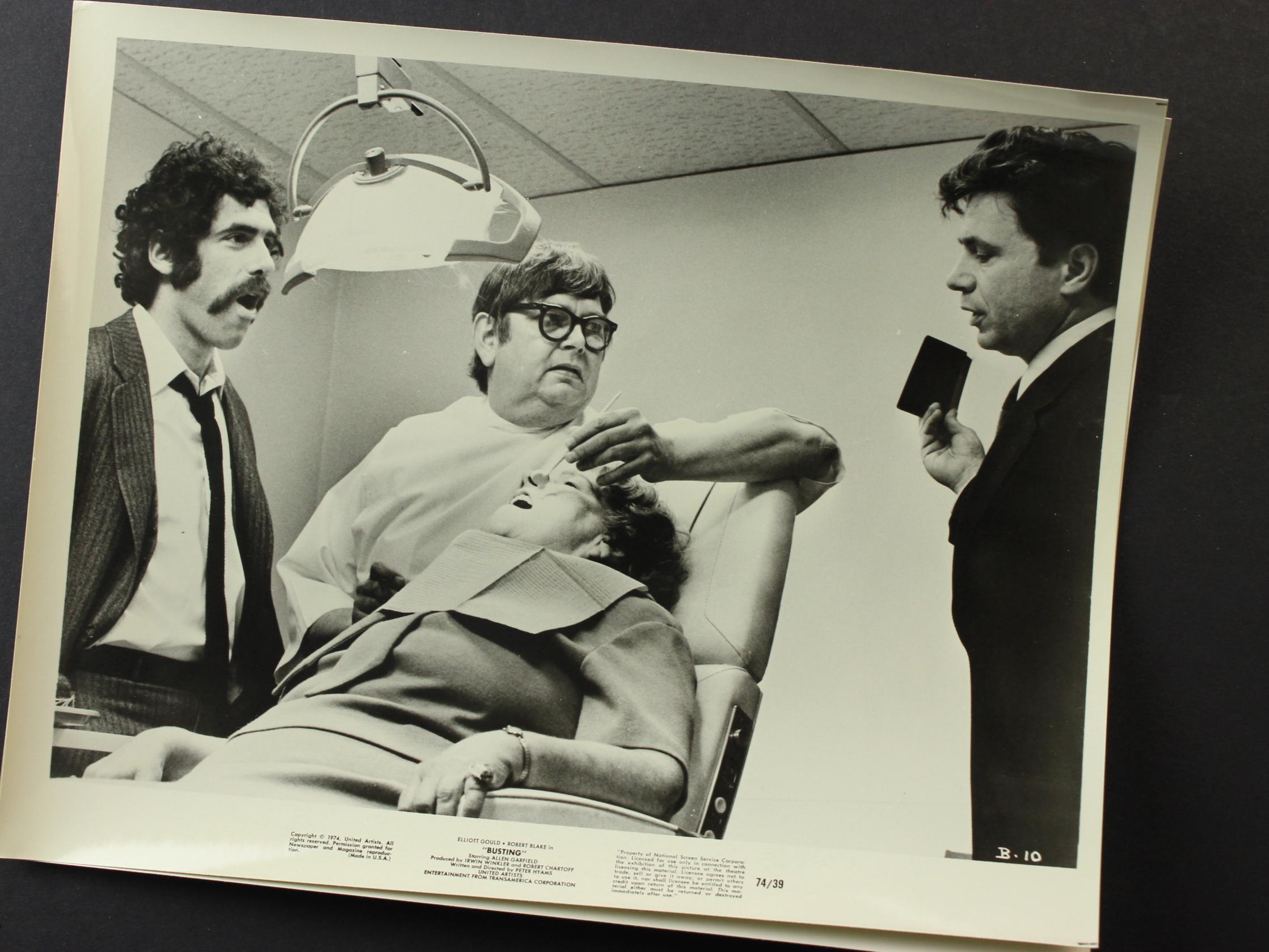 Elliott Gould, Robert Blake, and Logan Ramsey in Busting (1974)