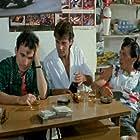 Pavlos Evagelopoulos, Yorgos Rigas, and Vasilis Kamitsis in Kleftroni kai gentleman (1986)
