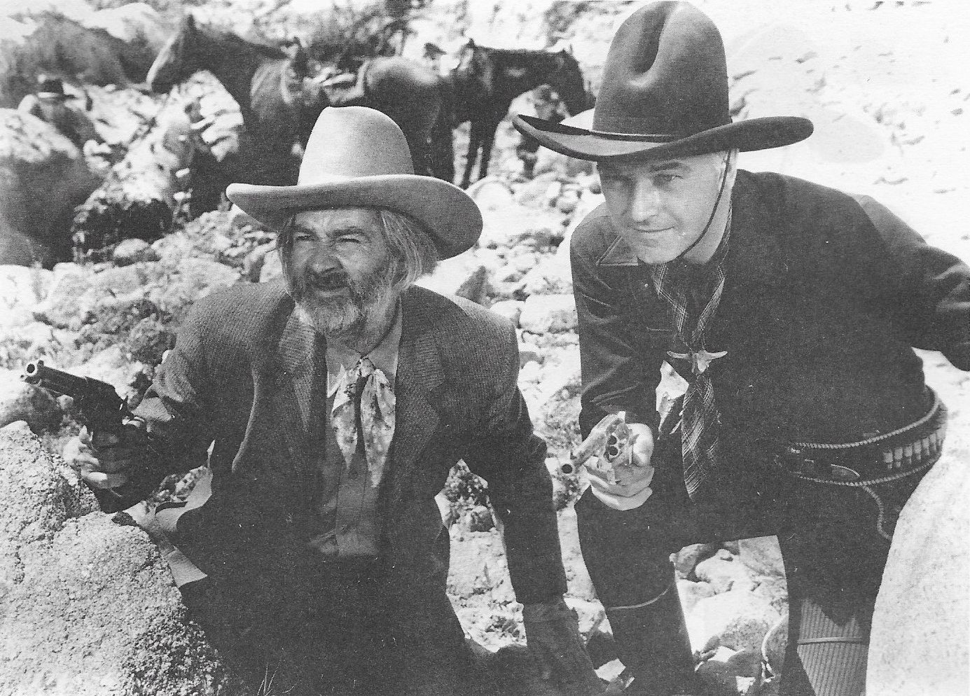 William Boyd and George 'Gabby' Hayes in The Frontiersmen (1938)