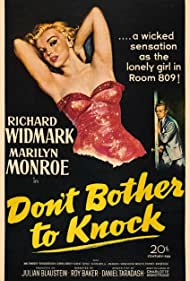 Marilyn Monroe and Richard Widmark in Don't Bother to Knock (1952)