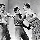 Ted de Corsia, Leo Gordon, and Perry Lopez in The Steel Jungle (1956)