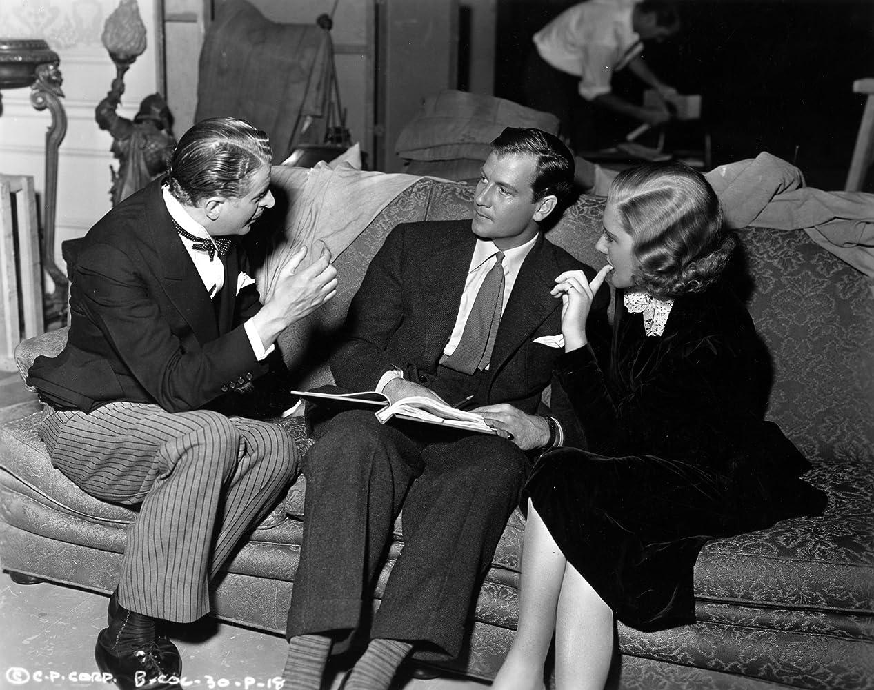 Jean Arthur, Joel McCrea, and Reginald Owen in Adventure in Manhattan (1936)