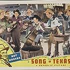 Roy Rogers, Pat Brady, Yakima Canutt, Hugh Farr, Karl Farr, Bob Nolan, Lloyd Perryman, Sons of the Pioneers, Sheila Ryan, and Tim Spencer in Song of Texas (1943)