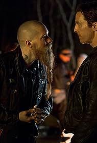 Matthew McConaughey and Joseph Sikora in True Detective (2014)