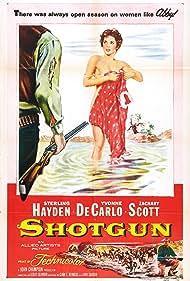 Yvonne De Carlo and Sterling Hayden in Shotgun (1955)