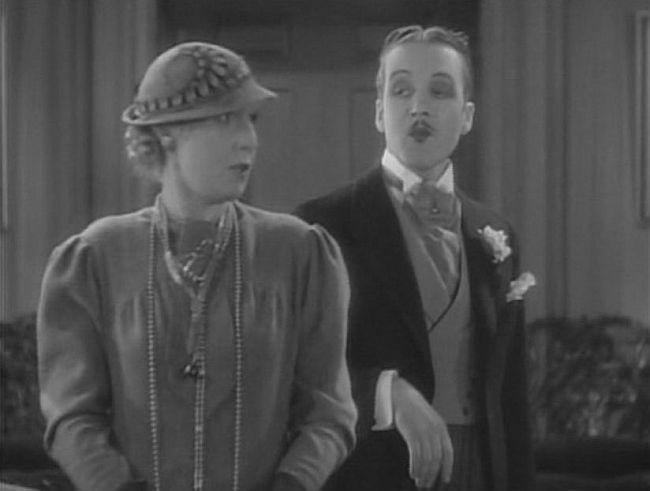 Violet Kemble Cooper and Tyrell Davis in Our Betters (1933)