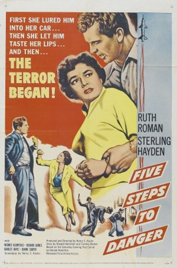 Sterling Hayden and Ruth Roman in 5 Steps to Danger (1956)