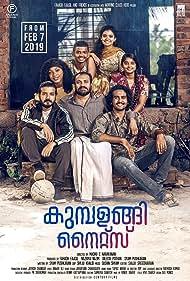 Anna Ben, Mathew Thomas, Sreenath Bhasi, Shane Nigam, Soubin Shahir, Jasmine Metivier, and Sheela Rajkumar in Kumbalangi Nights (2019)