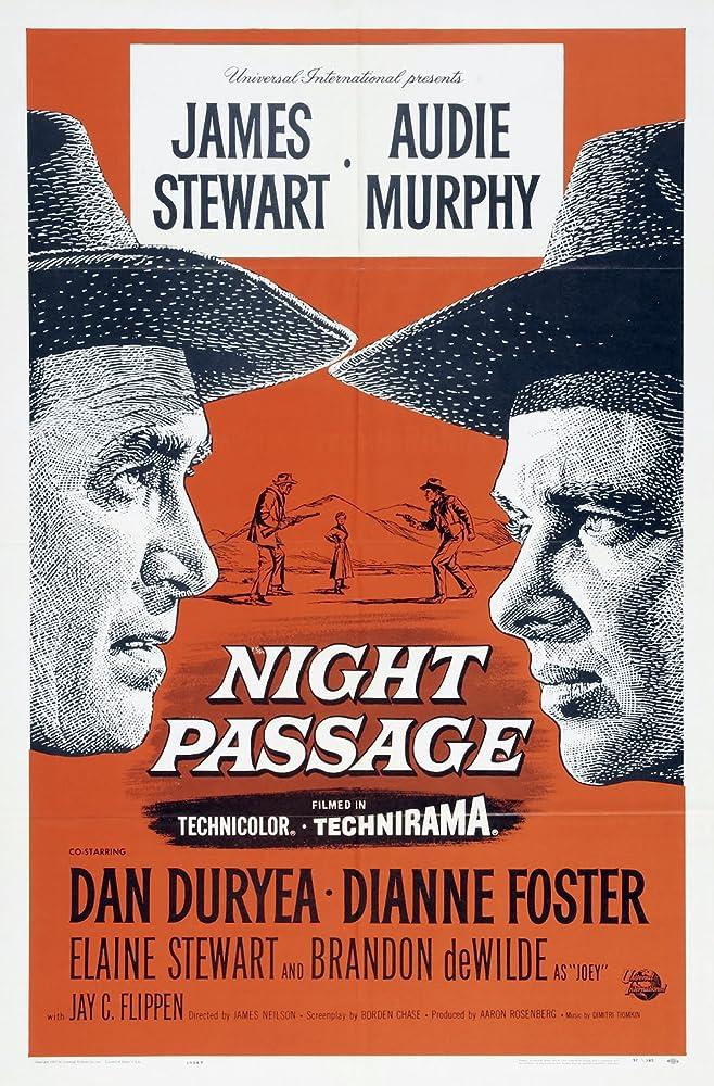 James Stewart and Audie Murphy in Night Passage (1957)