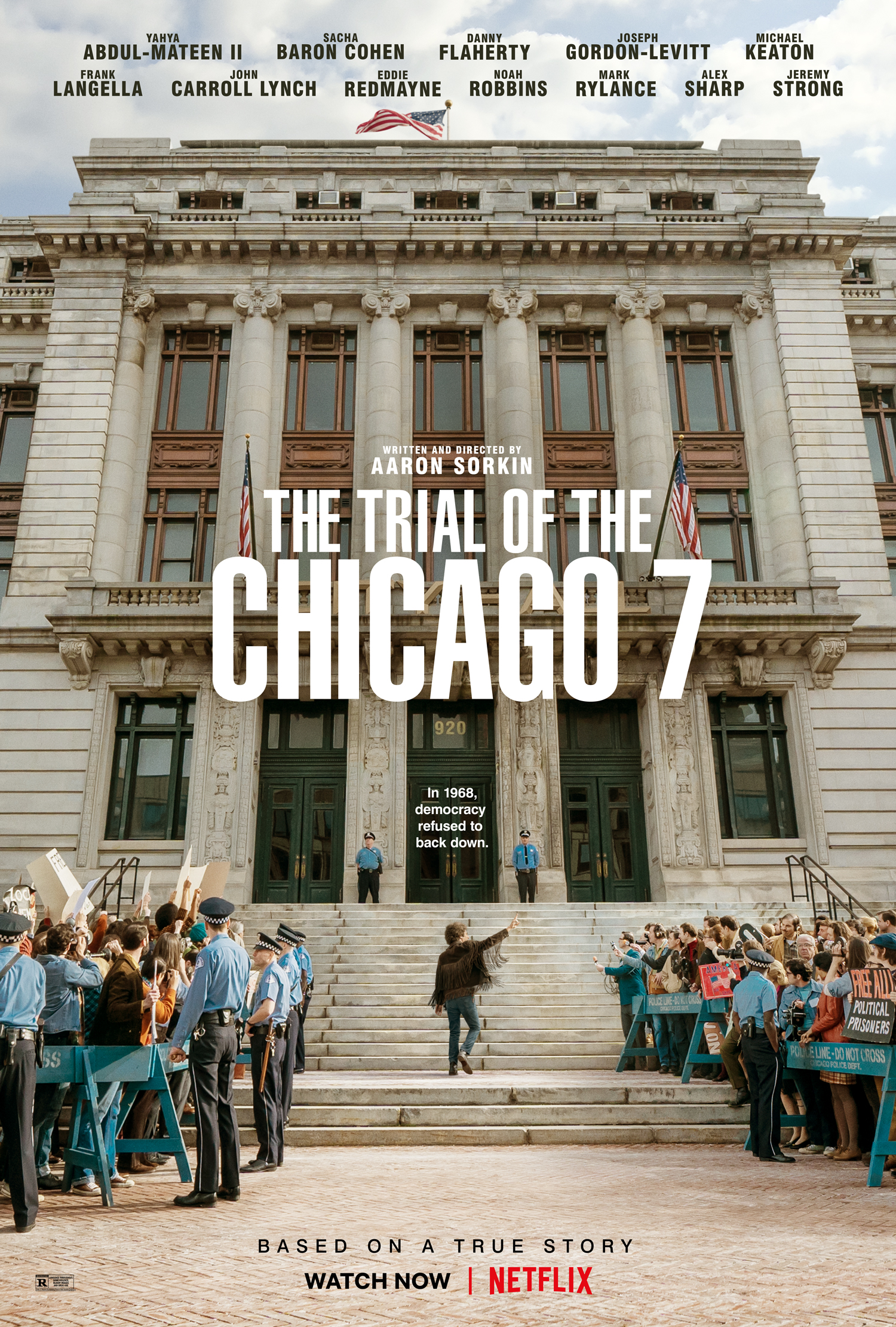 Promotional poster for THE TRIAL OF THE CHICAGO 7