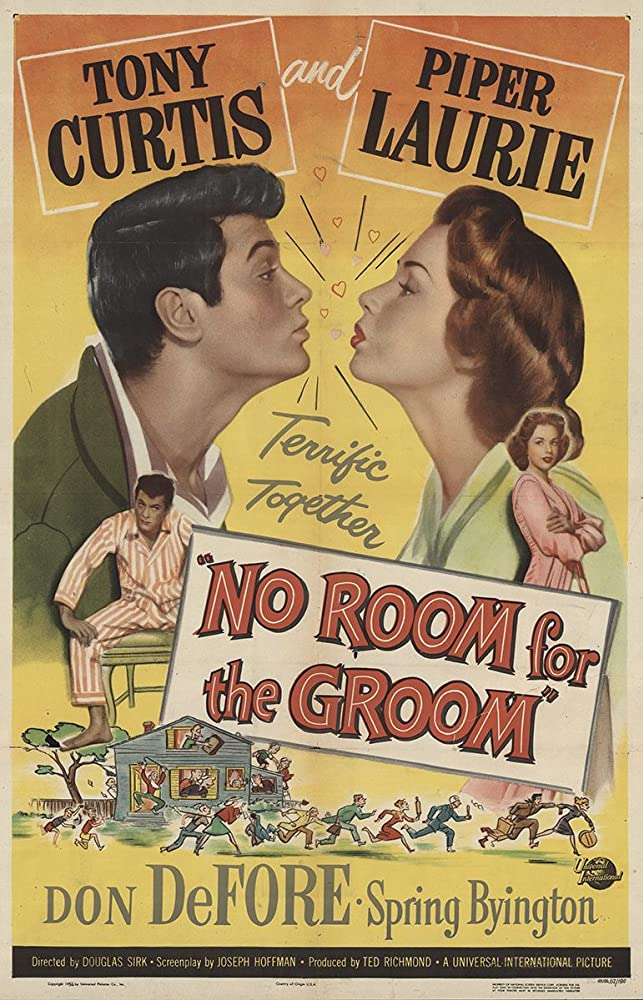 Tony Curtis and Piper Laurie in No Room for the Groom (1952)