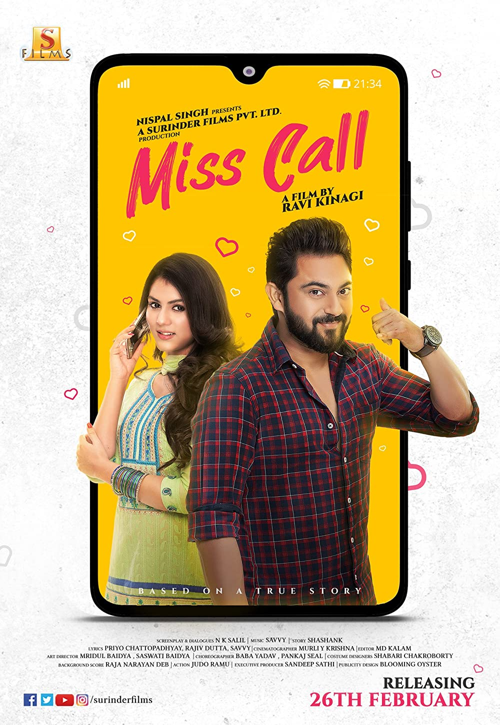 Miss Call 2021 Bengali Movie 720p HDRip 700MB Download *Exclusive*