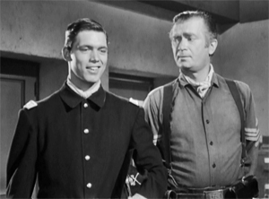 Buddy Ebsen and Chad Everett in Bronco (1958)