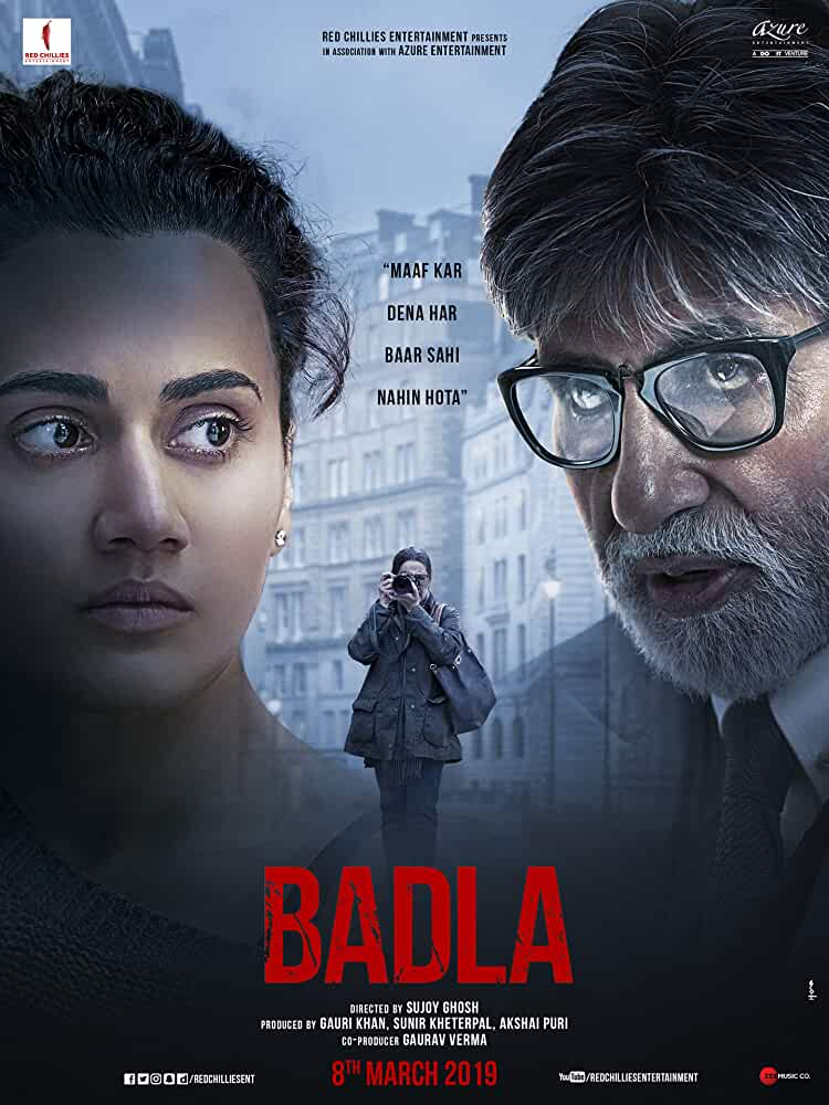 Badla (2019) Hindi 480p HDRip x264 MSubs 300MB