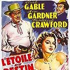 Clark Gable, Ava Gardner, and Broderick Crawford in Lone Star (1952)