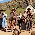 Steve Buscemi, Daniel Radcliffe, Tammy Dahlstrom, Lamont Thompson, Erin Darke, Karan Soni, and River Drosche in Oregon Trail: End of the Trail (2021)