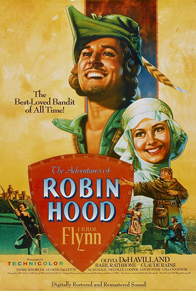 Olivia de Havilland and Errol Flynn in The Adventures of Robin Hood (1938)