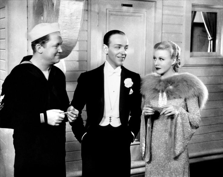 Fred Astaire, Ginger Rogers, and Ray Mayer in Follow the Fleet (1936)
