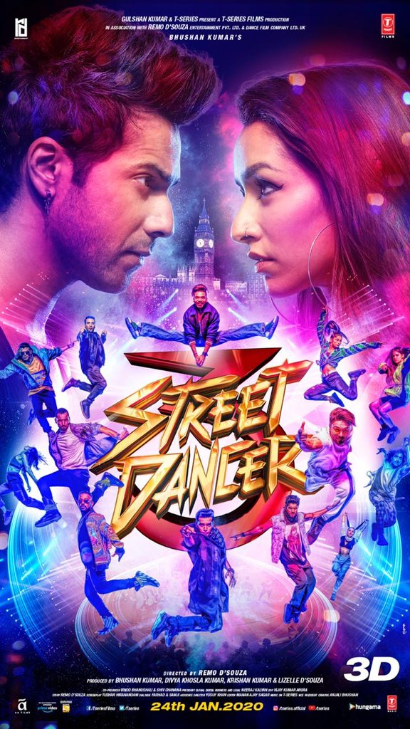 Street Dancer 3D (2020) Hindi 720p Pre-DvDRip (New Cleen Print) x265 AAC 750MB