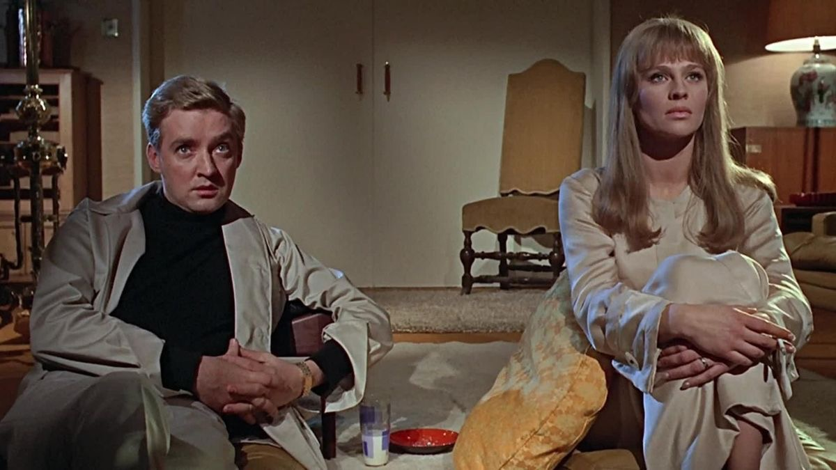 Julie Christie and Oskar Werner in Fahrenheit 451 (1966)