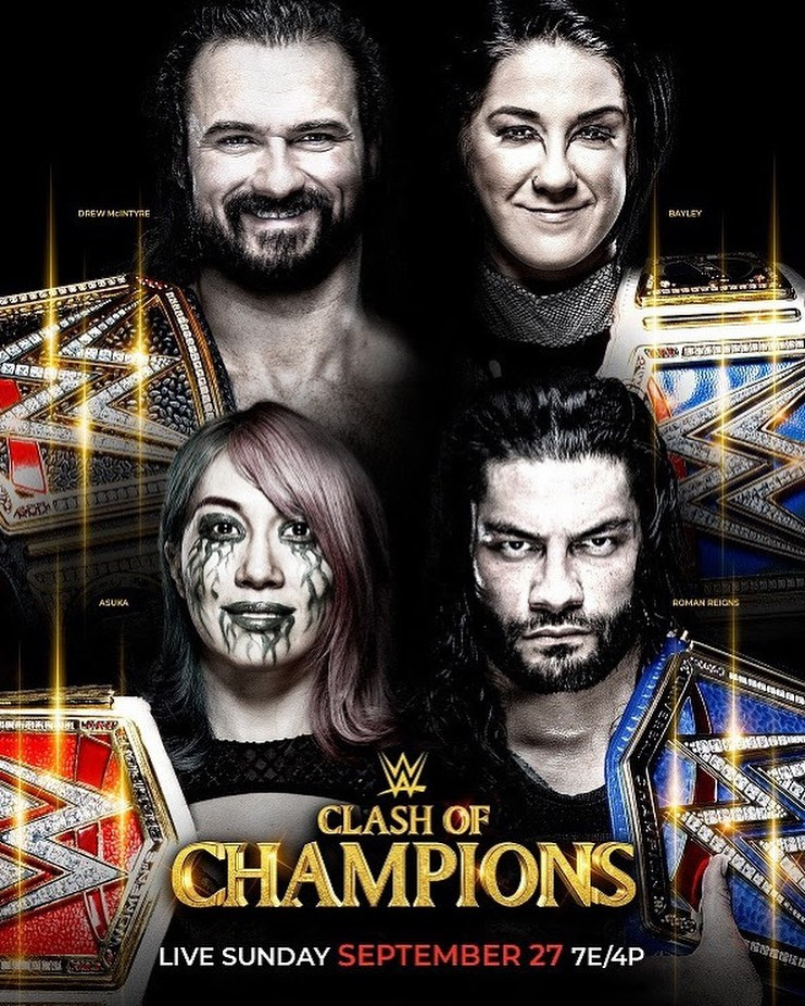 WWE: Clash of Champions 2020 English PPV HDTV 500MB Download