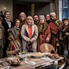 Derek Jacobi, Diana Rigg, Nancy Zamit, Greg Tannahill, Ellie Morris, Jonathan Sayer, Chris Leask, Charlie Russell, Henry Shields, Henry Lewis, and Dave Hearn in A Christmas Carol Goes Wrong (2017)