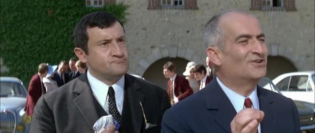 Louis de Funès and Max Montavon in Les grandes vacances (1967)