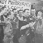 Roy Rogers, Ken Carson, Hugh Farr, Karl Farr, George 'Gabby' Hayes, Bob Nolan, Sons of the Pioneers, and Tim Spencer in Utah (1945)