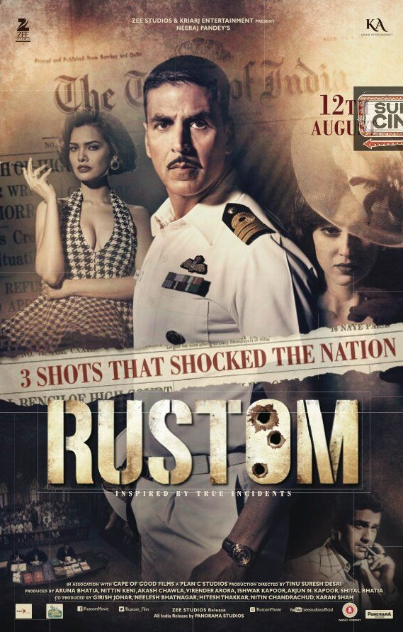 Poster of Rustom 2016 720p Hindi BluRay Full Movie Download HD