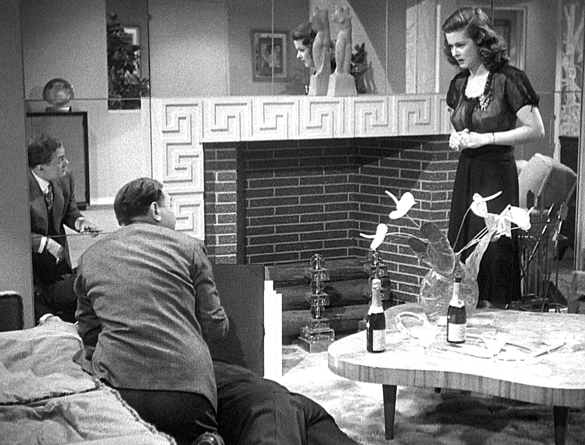 Edward G. Robinson, Joan Bennett, and Arthur Loft in The Woman in the Window (1944)