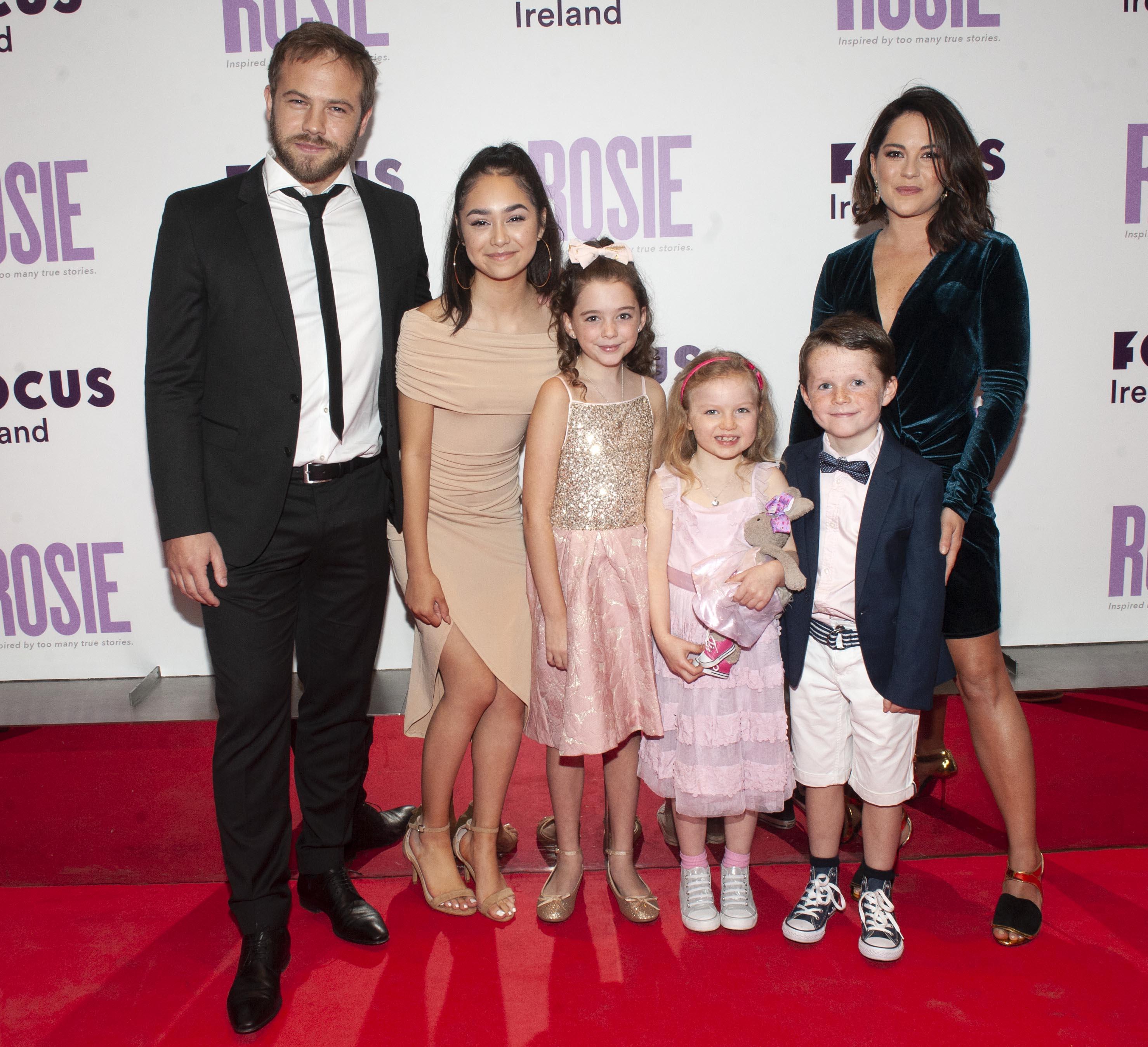 Molly McCann & cast of Rosie - Premiere